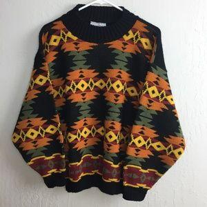 Custom Design M/L Vintage Acrylic Sweater